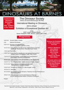 Dinosaurs at Barnes Itinerary
