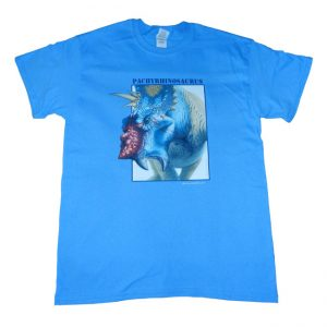 Pachyrhinosaurus T Shirt Blue Adult