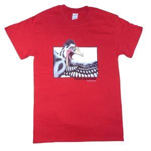 Velociraptor T Shirt Red Adult